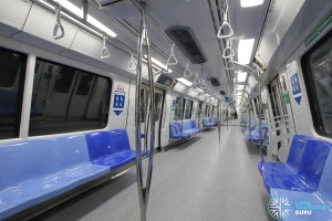 Kawasaki Heavy Industries & CRRC Qingdao Sifang C151B - Blue car interior