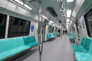 Kawasaki Heavy Industries & CRRC Qingdao Sifang C151B - Turquoise car interior