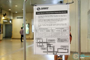 Tanah Merah – Changi Airport Parallel Bus Service: Poster