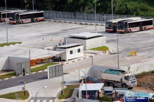 Ulu Pandan Bus Depot - Vehicle ingress/egress and Guard house