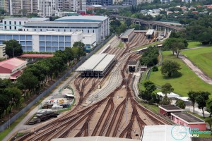 Ulu Pandan MRT Depot - Overhead view