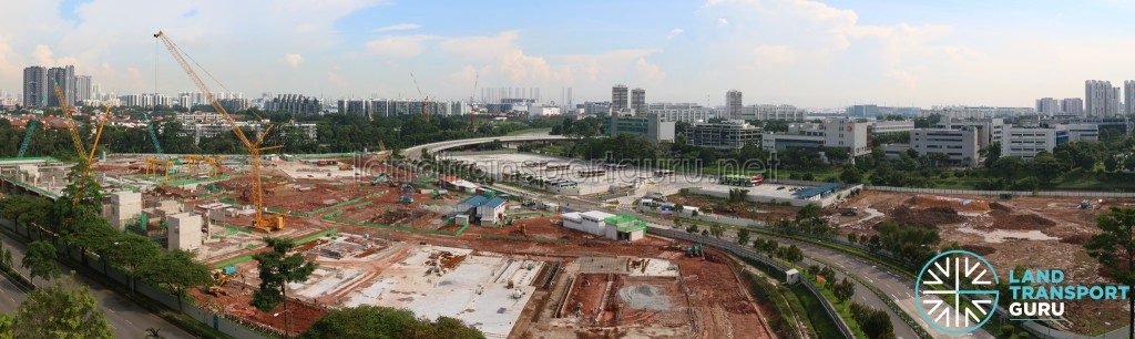 Ulu Pandan Bus Depot Construction Progress - Apr 2017