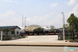Woodlands Bus Park - Main entrance along Woodlands Avenue 4