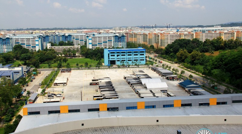 Woodlands Bus Park - Overhead view