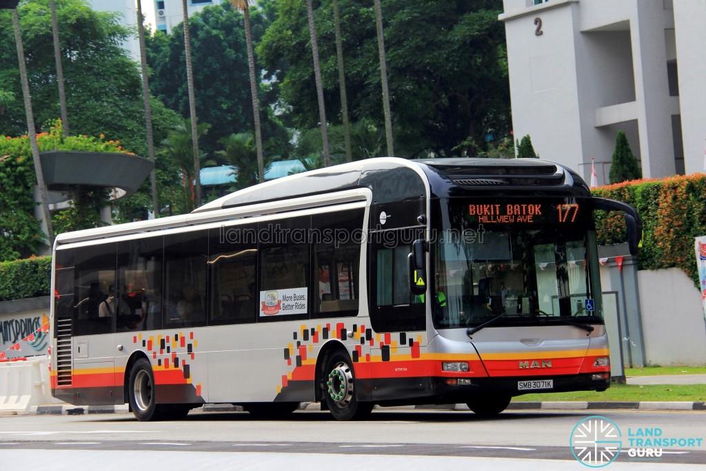 Tower Transit MAN A22 (SMB3071K) - Service 177