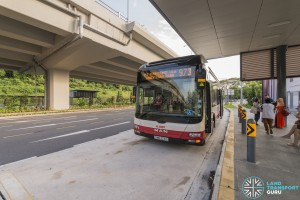 Service 973 outside Hillview MRT Station