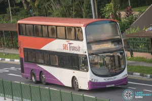 SBST Volvo B9TL Wright (SBS3287X) - DTL Shuttle Service towards Bukit Panjang