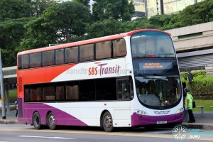 SBST Volvo B9TL Wright (SBS3611T) - DTL Shuttle Service towards Bukit Panjang