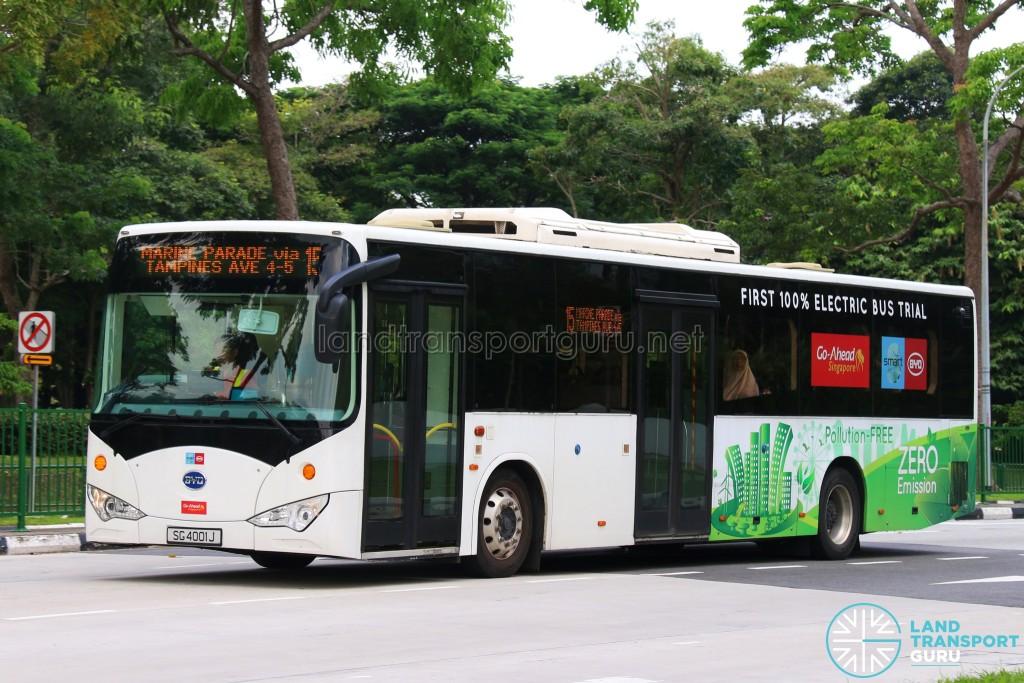 Go-Ahead BYD K9 Electric Bus (SG4001J) - Service 15