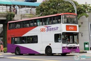 SBS Transit Volvo Olympian 2-Axles (SBS7223D) - Service 252