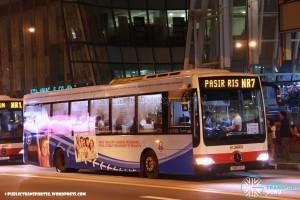 SMRT Mercedes-Benz OC500LE (SMB74Y) - NightRider NR7
