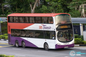 SBST Volvo B9TL Wright (SBS3804D) - DTL Shuttle Service towards Chinatown