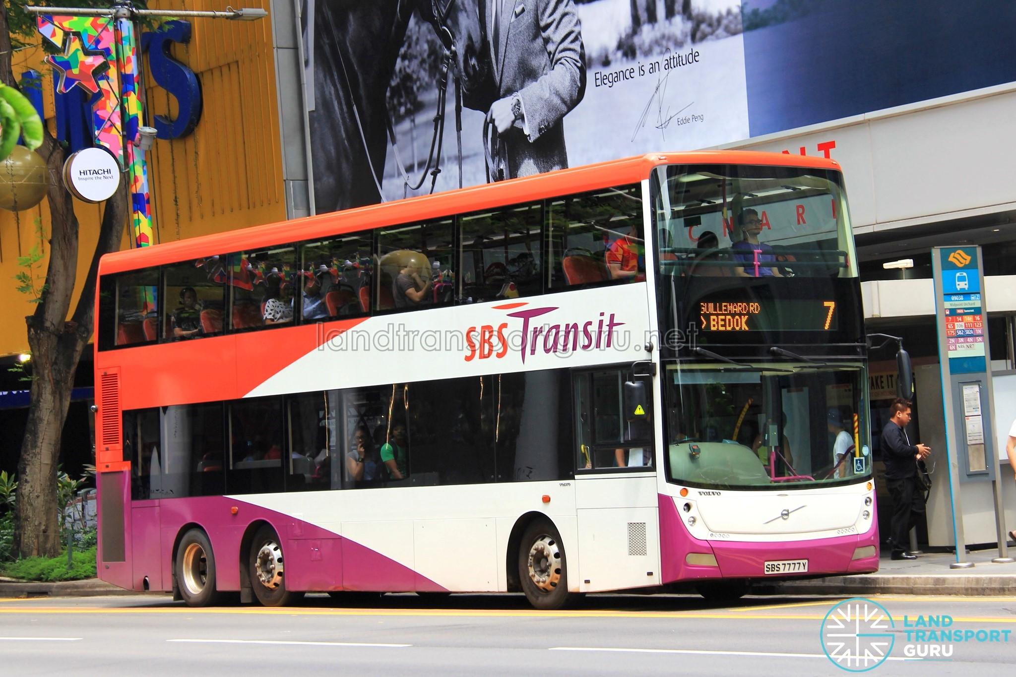 SBS Transit Volvo B9TL Gemilang (SBS7777Y) - Service 7