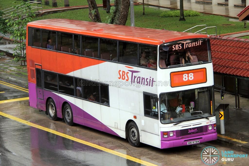 SBS Transit Leyland Olympian 3-Axle (SBS9178M) - Service 88