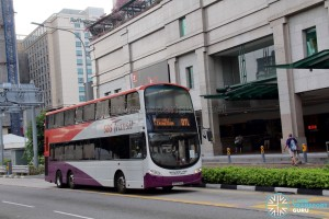 SBST Volvo B9TL Wright (SBS3769Y) - DTL Shuttle Service at Bugis Junction
