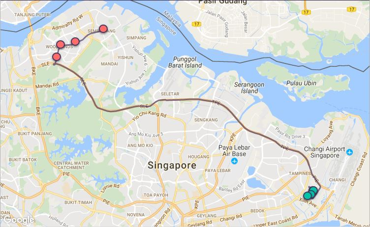 Route G14 at a glance. Map Image: Beeline.sg
