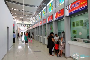 Larkin Bus Terminal - Ticketing counters