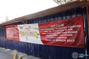 Larkin Bus Terminal - Relocation banner