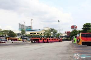 Larkin Bus Terminal - Parking lots, renovated into end-on berths