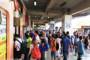 Larkin Bus Terminal - Queues at ticketing counters