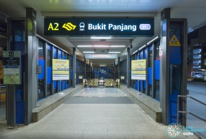 Bukit Panjang MRT Station - Closed Exit A2