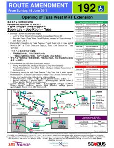 Bus Service 192 Amendment Poster