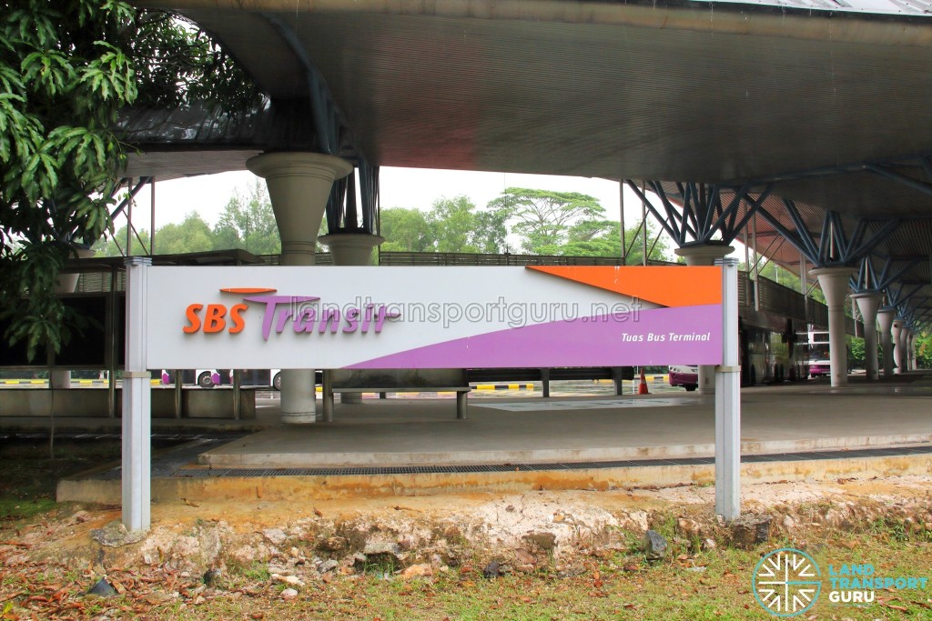 SBS Transit Signage at Tuas Bus Terminal