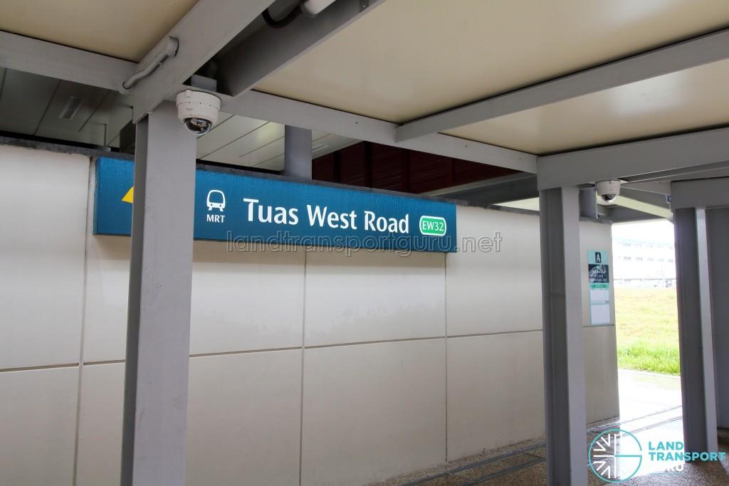 Tuas West Road MRT Station - Exit A (Escalator access)