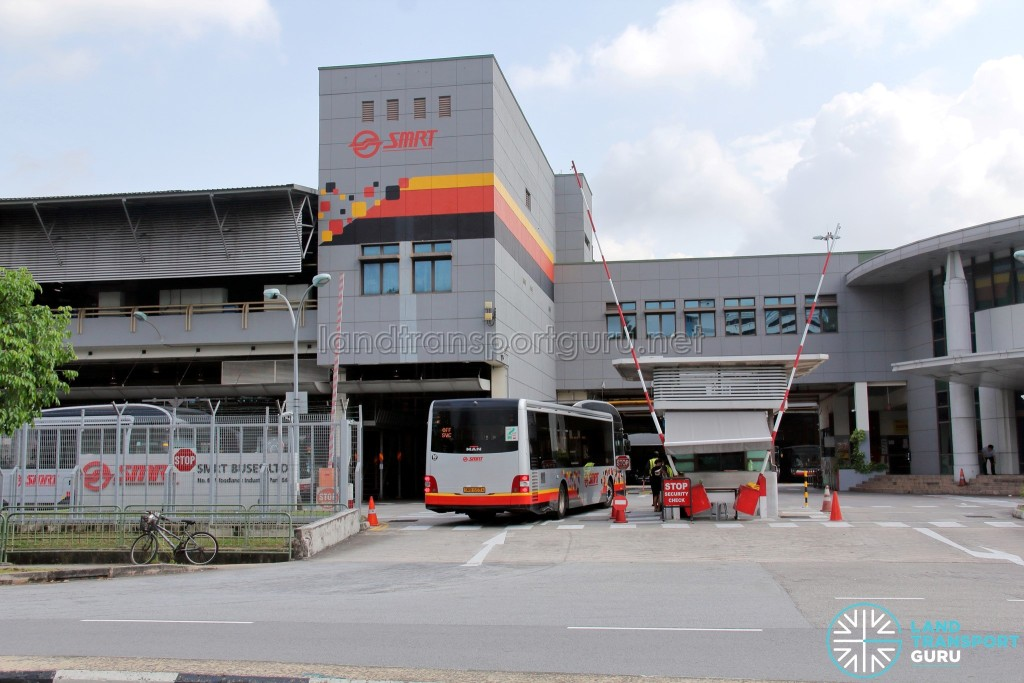 Woodlands Bus Depot - Main entrance along Woodlands Industrial Park E9
