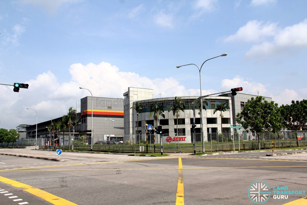 Woodlands Bus Depot - As seen from from Woodlands Industrial Park E4/E9