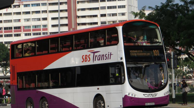 SBS Transit Volvo B9TL Wright (SBS3258E) - Service 101