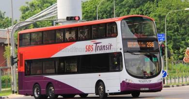 SBS Transit Volvo B9TL Wright (SBS3873D) - Service 256