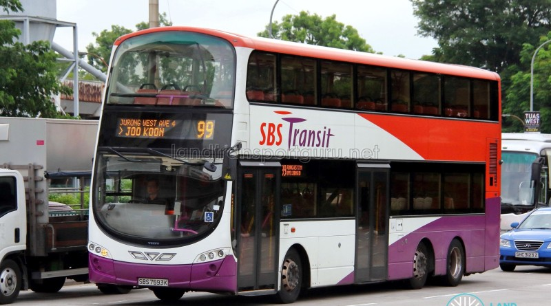 SBS Transit Volvo B9TL Wright (SBS7593K) - Service 99