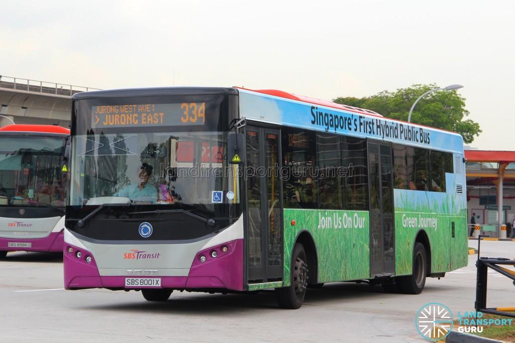 SBS Transit Sunlong SLK6121UF14H (SBS8001X) - Service 334