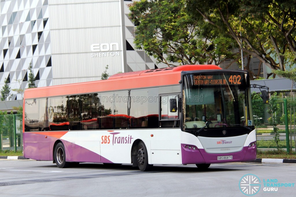 Service 402 - SBS Transit Scania K230UB Euro V (SBS8687S)