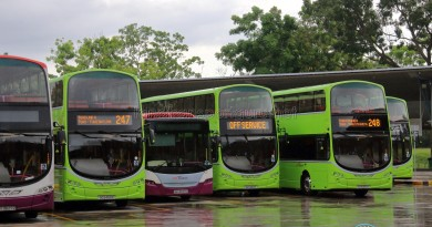 Bus Service 247 & 248 at Tuas Bus Terminal