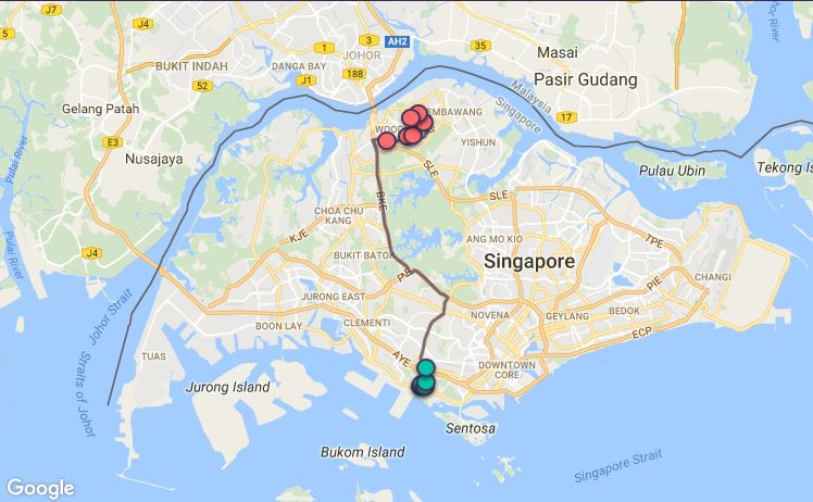 Route G79 at a glance. Map Image: Beeline.sg