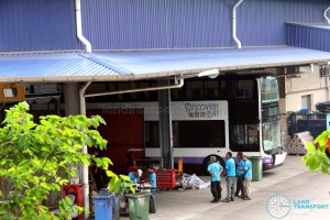 Gemilang Coachworks - MAN A95 bus for the Hong Kong market undergoing fitting works