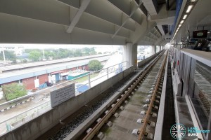 Gul Circle MRT Station - Unused Platform (Lower level) - Tracks