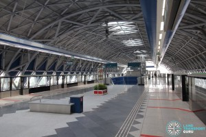 Gul Circle MRT Station - Upper Platform level