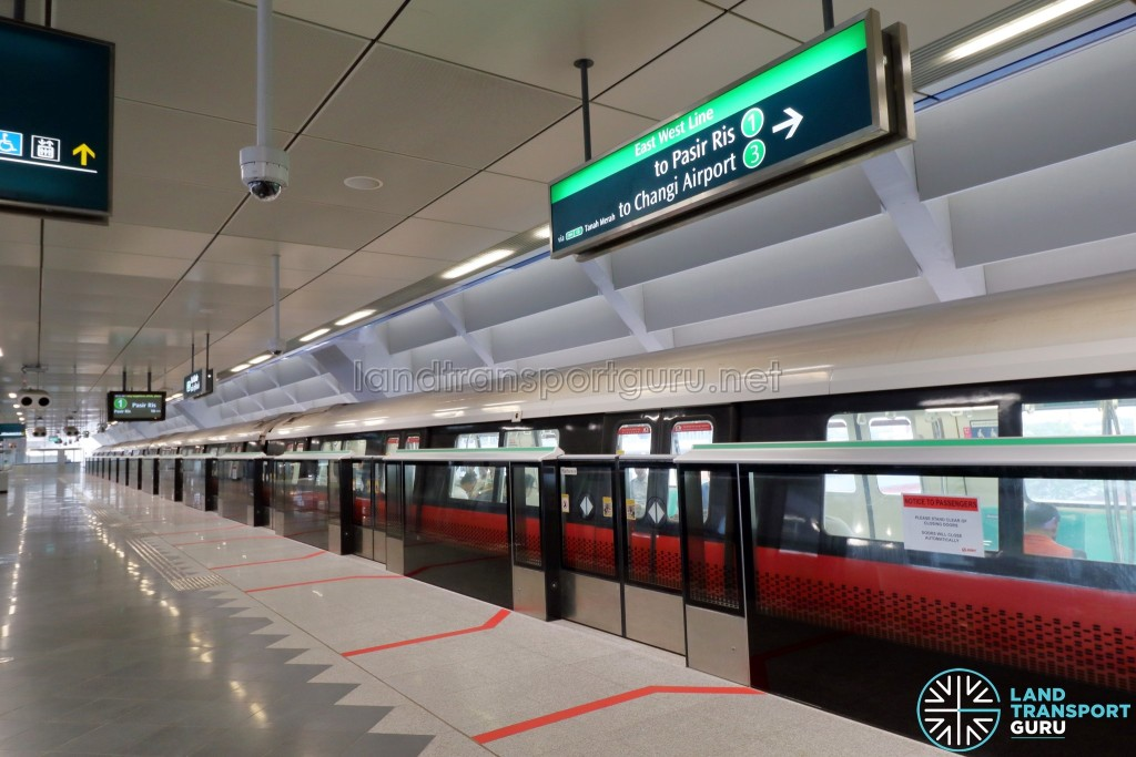 Gul Circle MRT Station - Platform A (Lower Platform, trains to Pasir Ris)