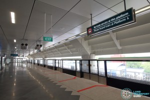 Gul Circle MRT Station - Unused Platform (Lower level)