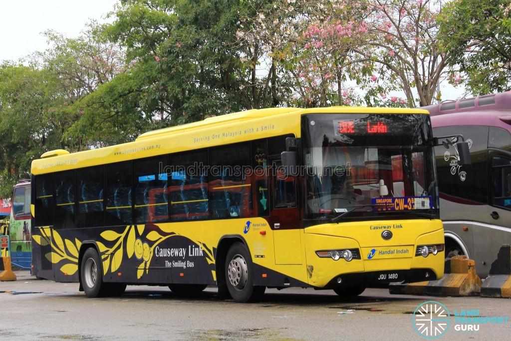Causeway Link Yutong ZK6118HGA (JQU1480) - CW3 Larkin Branch