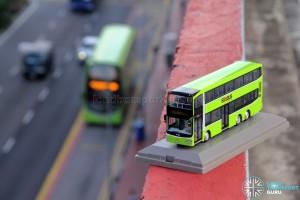 Knackstop MAN A95 bus model - Alongside a Lush Green Volvo B9TL