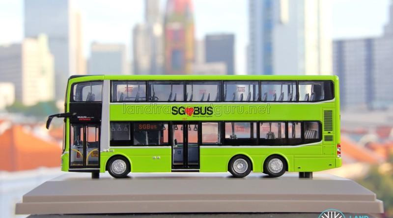 Knackstop MAN A95 bus model - Nearside