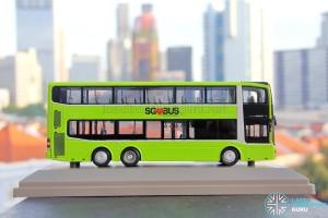 Knackstop MAN A95 bus model - Offside