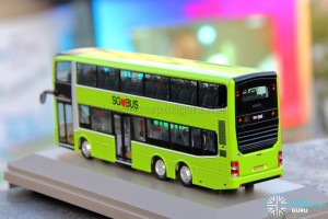 Knackstop MAN A95 bus model - Rear nearside