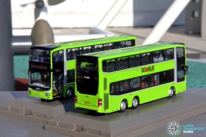 Knackstop MAN A95 bus model - Rear and Front