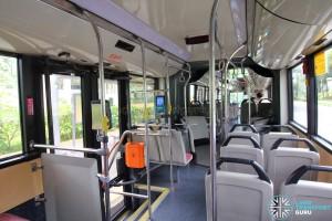 Mercedes-Benz O405G (TIB1105H) - Rear cabin aisle and exit door