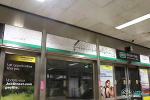 Trial Signage at Outram Park East-West Line Platform A (Jun 2017)